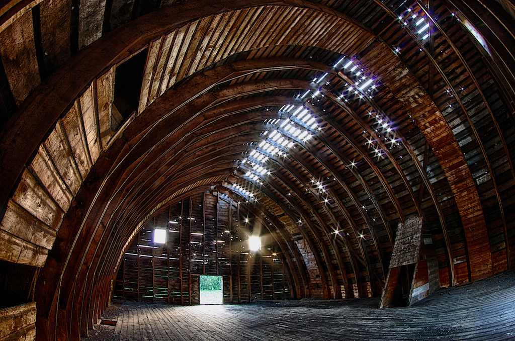 Inside of a Barn HDR